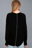 Laid Back Black Sweater Top 4