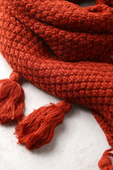 Northern Hemisphere Terra Cotta Knit Scarf 2