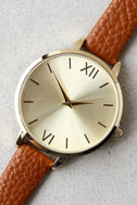 Eon and On Gold and Brown Watch 2