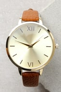 Eon and On Gold and Brown Watch 3
