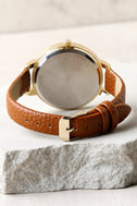 Eon and On Gold and Brown Watch 4