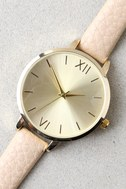 Eon and On Gold and Beige Watch 2
