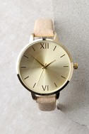 Eon and On Gold and Beige Watch 3