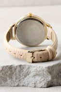 Eon and On Gold and Beige Watch 4