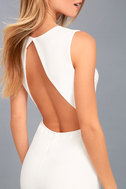 Refine and Poise White Backless Wide-Leg Jumpsuit 5