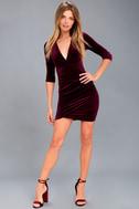 Anything For You Burgundy Velvet Bodycon Dress 2