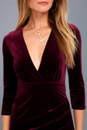Anything For You Burgundy Velvet Bodycon Dress 5