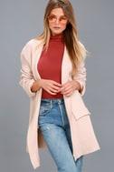 Keep Me Warm Blush Pink Knit Cardigan 1