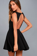 Gal About Town Black Skater Dress 6