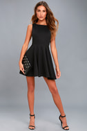 Gal About Town Black Skater Dress 5