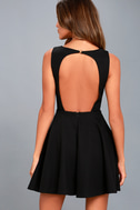 Gal About Town Black Skater Dress 7