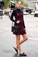 Nick of Time Red and Black Plaid Sleeveless Dress 2