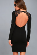 Tallest Tower Black Lace Bodycon Dress 9