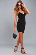 Make My Night Black Bodycon Wrap Dress 5