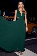 Vivid Imagination Forest Green Cutout Maxi Dress 5