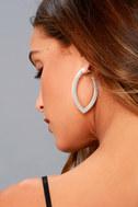 Empress Matte Silver Earrings 1