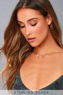Lunar Love Gold Rhinestone Necklace 1