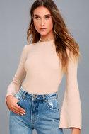 Idolized Love Blush Bell Sleeve Sweater Top 2