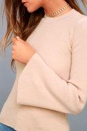 Idolized Love Blush Bell Sleeve Sweater Top 5