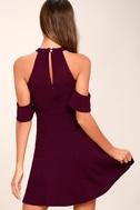 Head Over Heels Plum Purple Off-the-Shoulder Skater Dress 3