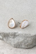 Illuminate the Night Rose Gold and Pearl Earrings 2