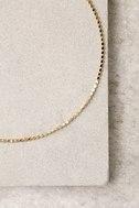 Glimmer of Light Gold Choker Necklace 3