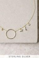 Lunar Love Gold Rhinestone Necklace 3