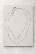 Finer Things in Life Silver Layered Choker Necklace 2