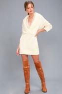 Infinite Skies Cream Sweater Dress 3