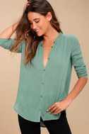 Brighton Teal Blue Long Sleeve Top 1