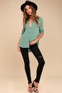 Brighton Teal Blue Long Sleeve Top 3