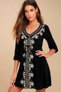 Mina Black Embroidered Dress 3