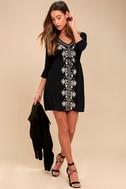 Mina Black Embroidered Dress 2