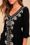 Mina Black Embroidered Dress 5