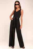 Natasha Black Wide-Leg Jumpsuit 1