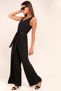 Natasha Black Wide-Leg Jumpsuit 2