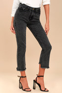 Malibu Washed Black High-Waisted Jeans 2