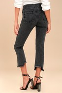 Malibu Washed Black High-Waisted Jeans 3