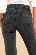 Malibu Washed Black High-Waisted Jeans 4