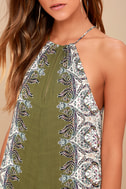 Brinkley Olive Green Print Maxi Dress 4