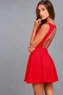 Gal About Town Red Skater Dress 1