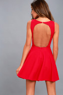 Gal About Town Red Skater Dress 3