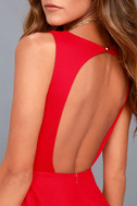 Gal About Town Red Skater Dress 4