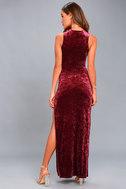 Love and Memories Burgundy Velvet Maxi Dress 3