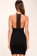 Federica Black Crocheted Lace Bodycon Dress 3