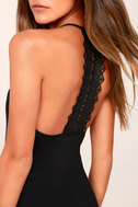 Federica Black Crocheted Lace Bodycon Dress 4