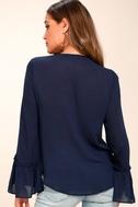 Ryland Navy Blue Long Sleeve Top 3