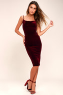 Jazzy Belle Burgundy Velvet Dress 2