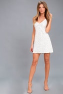 Force of Fashion White Backless Sequin Mini Dress 2