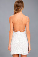 Force of Fashion White Backless Sequin Mini Dress 4